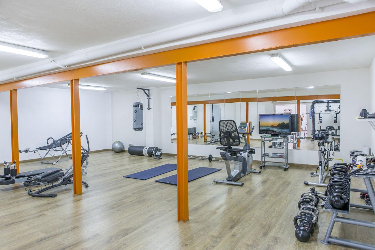 Foto gym para hacer infografias