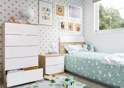 Renders e infografias para catalogos de muebles infantiles
