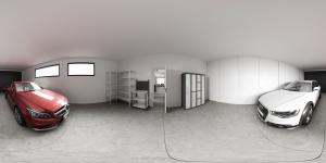 Render panorámico 360 Garaje