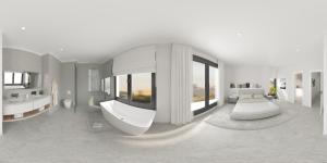 Render panorámico 360 dormitorio suite